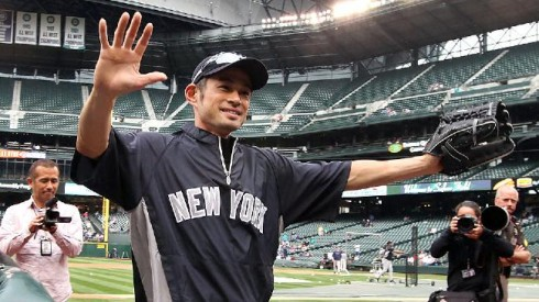 Ichiro was welcomed to the Yankees last night in a surprise trade