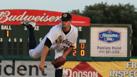 William Oliver had one of his best performances of the season on Sunday (Photo Credit: Charleston RiverDogs Official Website).