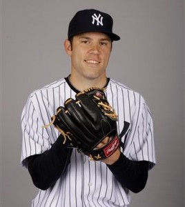 This is a 2012 photo of David Phelps of the New York Yankees baseball team. This image reflects the Yankees&#039; active roster as of Monday, Feb. 27, 2012, when this image was taken. (AP Photo/Matt Slocum)