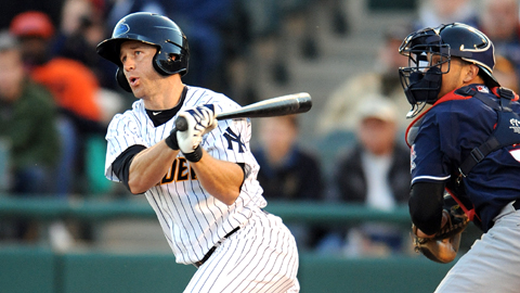 David Adams' hot bat seems to have finally proved ready for Triple-A (Photo Credit: Trenton Thunder Official Site)