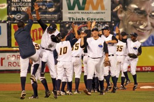 Two home runs from Adonis Garcia led the Thunder into the playoffs (Photo Credit: Trenton Thunder)