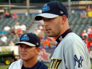 David Aardsma with the Trenton Thunder (Photo: Mike Ashmore)