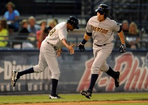 Ramon Flores' home run wasn't enough to push Trenton past Reading last night (Photo Credit: Trenton Thunder)