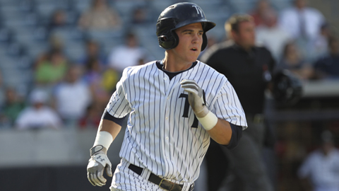 Tyler Austin's performance at both Charleston and Tampa earned him the honor of BronxPinstripes.com's Minor League Player of the Year (Photo Credit: Mark LoMoglio/Tampa Yankees)