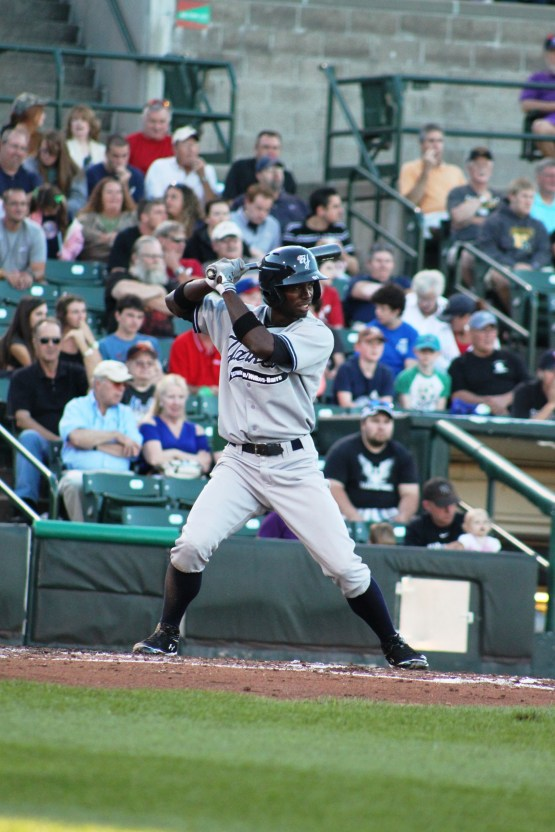Melky Mesa's walk-off home rune kept the Yankees' season alive for at least one more day (Photo Credit: Scranton/Wilkes-Barre Yankees)