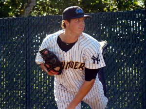Nik Turley pitched five innings in his Double-A debut (Photo Credit: Mike Ashmore)