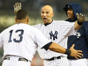 Everyone is up in arms over last night's dramatic win thanks to the heroics of Raul Ibanez, who's come through in spots like this all season long for the Yanks