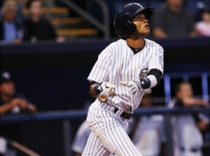 Despite season-ending labrum surgery, Mason Williams is at the top of Baseball America's Yankees prospect list (Photo Credit: MiLB.com)