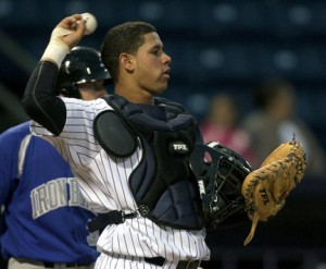 Gary Sanchez has been named as BronxPinstripes.com&#039;s top preseason prospect (Photo Credit: MiLB.com)