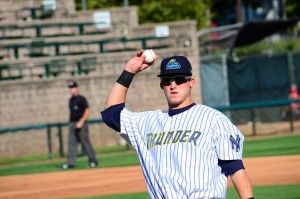 Austin with the Trenton Thunder in Sept. 2012 (Photo courtesy of Flickr)