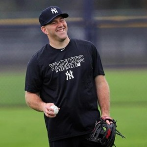 Kevin Youkilis takes his first swings in Pinstripes AGAINST the Red Sox to start 2013