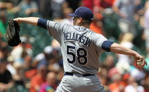 Hellickson has a 3-1 record with a 3.19 ERA and a 1.26 WHIP against the Yankees
