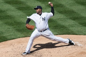 CC Sabathia went 8 innings with 9 strikeouts and the benefit of a triple play.