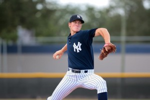Hensley with the GCL Yankees in 2012 (Photo: Ty Hensley on Twitter)