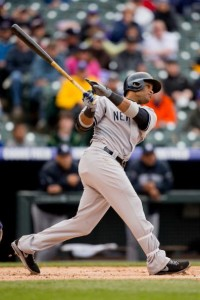 Cano hit the first of back-to-back home runs in the Mother's day win and sweep of the Royals today. (Photo by Justin Edmonds/Getty Images)