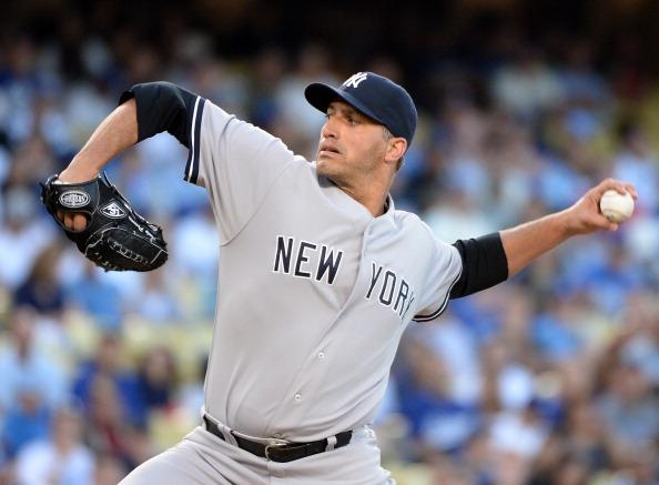Andy Pettitte got a no-decision despite going 7 and allowing 2 in tonight's game. (Photo by Harry How/Getty Images)