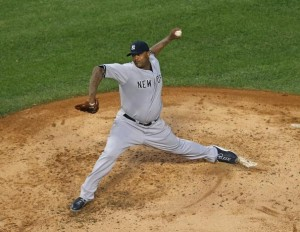 CC allowed 3 runs in 7.1 innings in tonight's extra innings loss. (Photo by Jonathan Daniel/Getty Images)