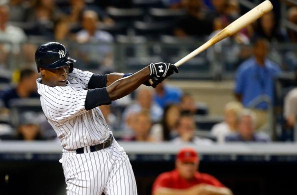 Alfonso Soriano hit two home runs en route to a career-high 6 RBI tonight. (Photo by Jim McIsaac/Getty Images)