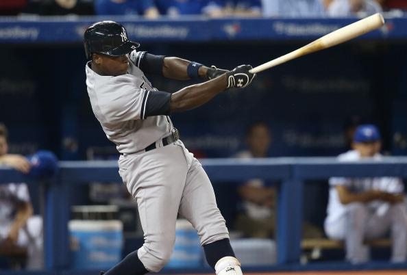 Alfonso Soriano hit two home runs tonight, including the 400th of his career. (Photo by Tom Szczerbowski/Getty Images)