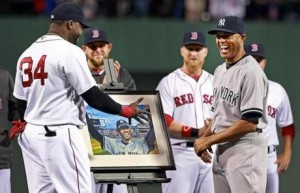 Mariano received many gifts at Fenway last Sunday night, most notably a painting of his reaction to the 2005 standing ovation.