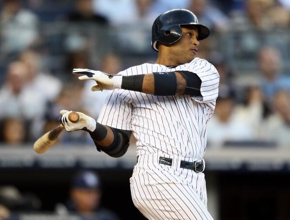 Robinson Cano will look to shoot up the Yankees' all-time home runs list this week. (Photo: Elsa/Getty Images)