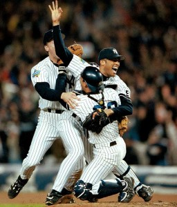 Mariano Rivera closed out the 1999 World Series vs Atlanta, completing an unprecedented two-year postseason run.