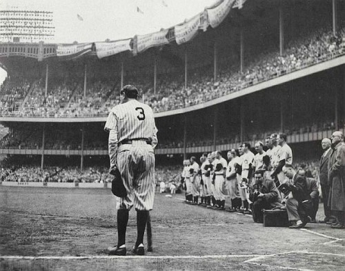 June 13, 1948: Babe Ruth in his last appearance at Yankee Stadium, captured in Nat Fein's Pulitzer Prize winning photo.