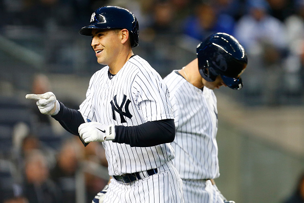NEW YORK, NY - APRIL 24:  Jacoby Ellsbury #22 of the New York Yankees celebrates after hitting a solo home run in the third inning against the New York Mets on April 24, 2015 at Yankee Stadium in the Bronx borough of New York City.  (Photo by Mike Stobe/Getty Images)