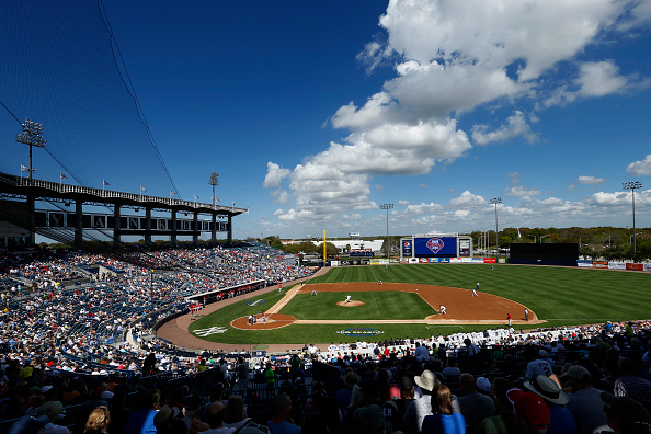TAMPA, FL - MARCH 4: General view as the New York Yankees play against the Philadelphia Phillies at George M. Steinbrenner Field on March 4, 2015 in Tampa, Florida. The Phillies defeated the Yankees 3-1. (Photo by Joe Robbins/Getty Images)