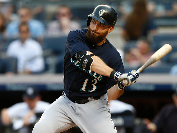 NEW YORK, NY - JULY 17: Dustin Ackley #13 of the Seattle Mariners in action against the New York Yankees during an MLB baseball game at Yankee Stadium on July 17, 2015 in the Bronx borough of New York City. (Photo by Rich Schultz/Getty Images)