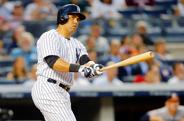 NEW YORK, NY - AUGUST 24:  Carlos Beltran #36 of the New York Yankees in action against the Houston Astros at Yankee Stadium on August 24, 2015 in the Bronx borough of New York City. The Yankees defeated the Astros 1-0.  (Photo by Jim McIsaac/Getty Images)
