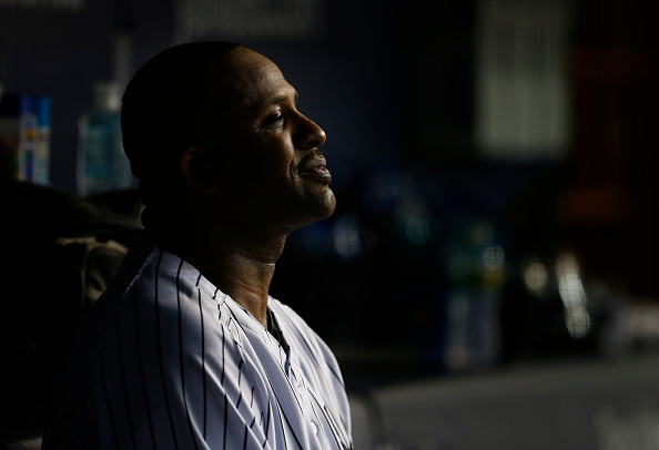 NEW YORK, NY - SEPTEMBER 09: Pitcher CC Sabathia #52 of the New York Yankees between innings against the Baltimore Orioles during a MLB baseball game at Yankee Stadium on September 9, 2015 in the Bronx borough of New York City. (Photo by Rich Schultz/Getty Images)