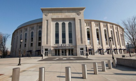 NEW YORK, NY - DECEMBER 14:  A general view of the exterior facade of Yankee Stadium on December 14, 2011 in New York City.  (Photo by Ben Hider/Getty Images)