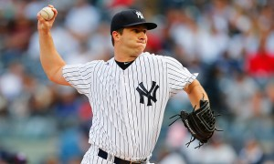 NEW YORK, NY - SEPTEMBER 26:  Adam Warren #43 of the New York Yankees pitches in the first inning against the Chicago White Sox at Yankee Stadium on September 26, 2015 in the Bronx borough of New York City.  (Photo by Mike Stobe/Getty Images)