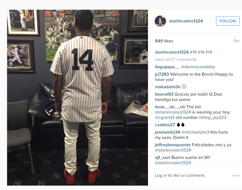new arrival 0c493 79da8 Starlin Castro looks good in pinstripes | Bronx Pinstripes ...