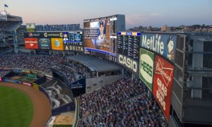 NEW YORK, NY - MAY 30:  A general view of the scoreboard at Yankee Stadium during the game between the New York Yankees and the New York Mets at Yankee Stadium on May 30, 2013 in the Bronx borough of New York City. (Photo by Rob Tringali/SportsChrome/Getty Images)