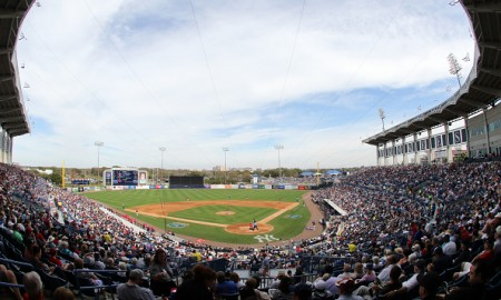 TAMPA, FL- MARCH 05:  A general view during the game between the New York Yankees and the Boston Red Sox at George M. Steinbrenner Field on March 5, 2016 in Tampa, Florida.  (Photo by Justin K. Aller/Getty Images)