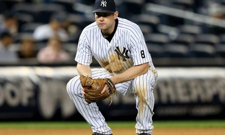 NEW YORK, NY - SEPTEMBER 30:  Chase Headley #12 of the New York Yankees reacts in the 11th inning against the Boston Red Sox on September 30, 2015 at Yankee Stadium in the Bronx borough of New York City.  (Photo by Elsa/Getty Images)