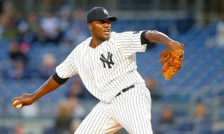 NEW YORK, NY - APRIL 06:  Michael Pineda #35 of the New York Yankees in action against the Houston Astros at Yankee Stadium on April 6, 2016 in the Bronx borough of New York City. The Yankees defeated the Astros 16-6.  (Photo by Jim McIsaac/Getty Images)