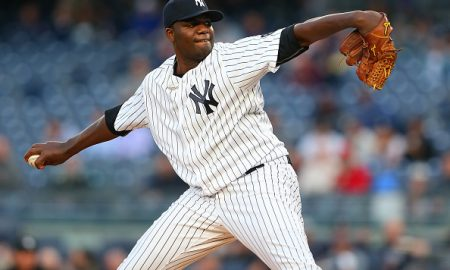 NEW YORK, NY - APRIL 19:  Michael Pineda #35 of the New York Yankees in action against the Oakland Athletics at Yankee Stadium on April 19, 2016 in the Bronx borough of New York City. Athletics defeated the Yankees 3-2.  (Photo by Mike Stobe/Getty Images)