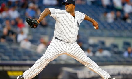 NEW YORK, NY - APRIL 22:  CC Sabathia #52 of the New York Yankees in action against the Tampa Bay Rays at Yankee Stadium on April 22, 2016 in the Bronx borough of New York City. The Yankees defeated the Rays 6-3.  (Photo by Jim McIsaac/Getty Images)