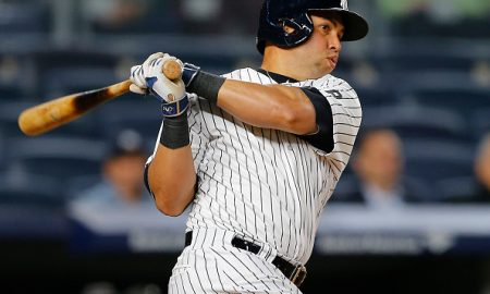 NEW YORK, NY - APRIL 20: Carlos Beltran #36 of the New York Yankees hits a home run against the Oakland Athletics during the eighth inning of a game at Yankee Stadium on April 20, 2016  in the Bronx borough of New York City. (Photo by Rich Schultz/Getty Images)