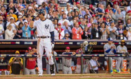 MINNEAPOLIS, MN - JULY 15: American League All-Star Derek Jeter #2 of the New York Yankees during the 85th MLB All-Star Game at Target Field on July 15, 2014 in Minneapolis, Minnesota. (Photo by Brace Hemmelgarn/Minnesota Twins/Getty Images)