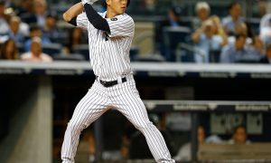 NEW YORK, NY - SEPTEMBER 24: Rob Refsnyder #64 of the New York Yankees bats against the Chicago White Sox during a MLB baseball game at Yankee Stadium on September 24, 2015 in the Bronx borough of New York City. The Yankees defeated the White Sox 3-2. (Photo by Rich Schultz/Getty Images)