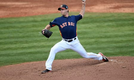 KISSIMMEE, FL - MARCH 09:  Neal Cotts #23 of the Houston Astros throws a pitch during the third inning of a spring training game against the Atlanta Braves at Osceola County Stadium on March 9, 2016 in Kissimmee, Florida.  (Photo by Stacy Revere/Getty Images)