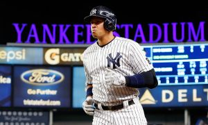 NEW YORK, NY - APRIL 22:  Alex Rodriguez #13 of the New York Yankees in action against the Tampa Bay Rays at Yankee Stadium on April 22, 2016 in the Bronx borough of New York City. The Yankees defeated the Rays 6-3.  (Photo by Jim McIsaac/Getty Images)