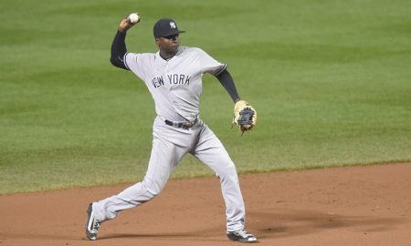 BALTIMORE, MD - MAY 03:  Didi Gregorius #18 of the New York Yankees fields a ground ball during a baseball game against the Baltimore Orioles at Oriole Park at Camden Yards on May 3, 2016 in Baltimore, Maryland.  The Orioles won 3-0.  (Photo by Mitchell Layton/Getty Images)
