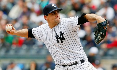 NEW YORK, NY - MAY 07:  Nathan Eovaldi #30 of the New York Yankees in action against the Boston Red Sox at Yankee Stadium on May 7, 2016 in the Bronx borough of New York City. The Yankees defeated the Red Sox 8-2.  (Photo by Jim McIsaac/Getty Images)