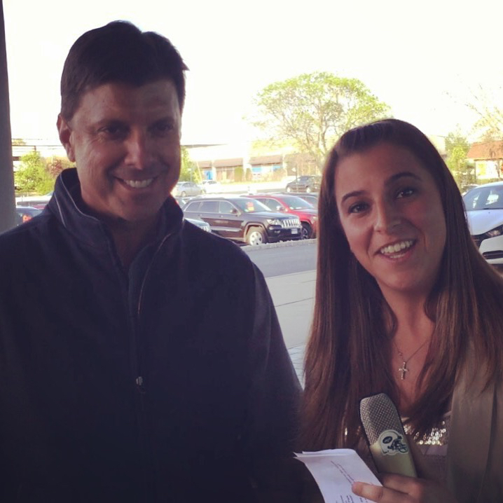 BP reporter Danielle McCartan interviews Tino Martinez in East Hanover, NJ (4/30/16).