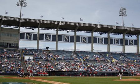 TAMPA, FL- MARCH 03:  A view during the game between the Philadelphia Phillies and the New York Yankees at Steinbrenner Field on March 3, 2016 in Tampa, Florida.  (Photo by Justin K. Aller/Getty Images) *** Local Caption ***